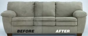 Before and after sofa cleaning