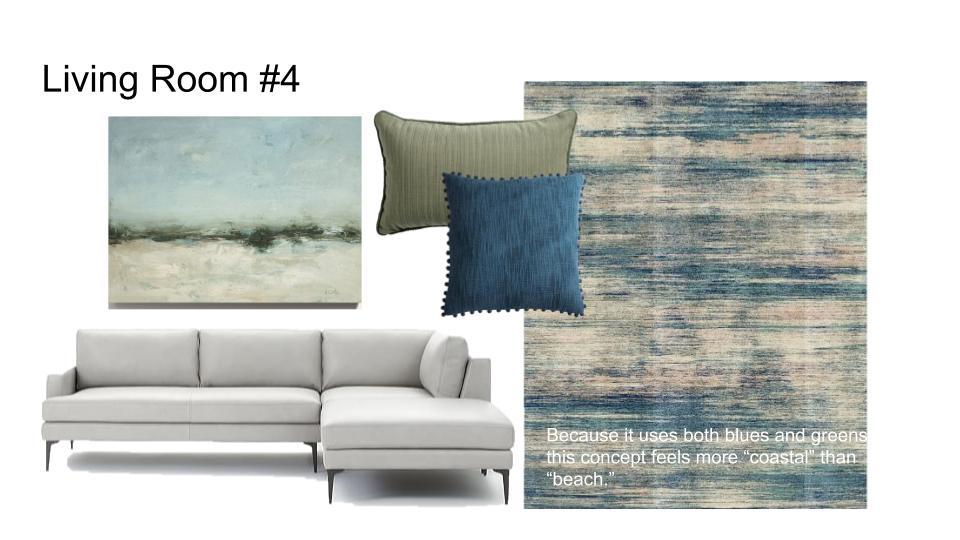 Blue & Neutral Coastal modern sectional