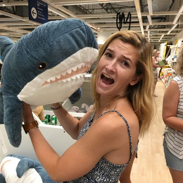 Shark pillow stuffed animal ikea kids toy